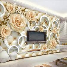 beibehang Custom wallpaper yellow rose ...
