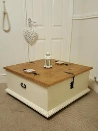 solid pine chest coffee table clotted cream chalk paint