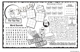 activity pages to print. Beautiful Print Burger Claim Kids Activity Sheet Free Coloring Pages And Pages To Print A