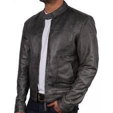 men s leather biker jacket zenith brown