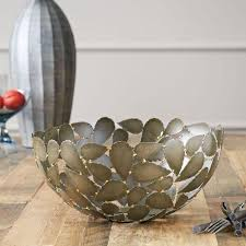Decorative Metal Balls Leaf Decorative Bowl 32