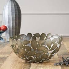 Decorative Metal Balls Leaf Decorative Bowl 16