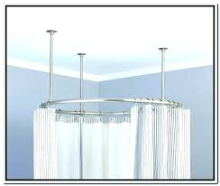 circular curtain rod rounded curtain rod round shower made from metal curved brackets circular oval shower