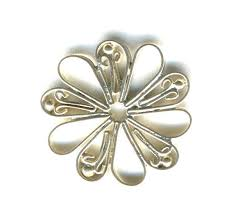 sterling silver filigree flower chandelier earring parts