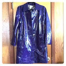 patent leather purple raincoat m 5aad7e19a6e3eae871b3c616