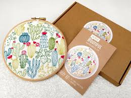 Cactus Embroidery Pattern Awesome Inspiration Ideas