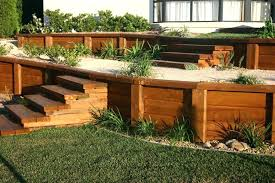 backyard retaining wall garden landscaping image of landscape timber retaining wall wood exterior home design ideas