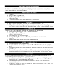 8 Resume Format Examples Sample Templates