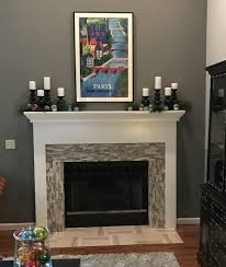 fireplace fireplace stone decorating ideas facing kits corner cleaning muriatic polished grey brick tile 54