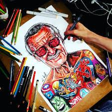 Little Sams Art Stan Lee Tattooed Up Marvel Facebook