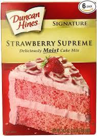 Amazoncom Duncan Hines Signature Strawberry Cake Mix 165 Ounce