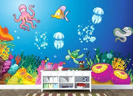under the sea wall decor under the sea wall mural art seagrass wall decorations