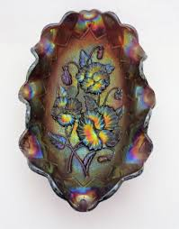 Carnival Glass Patterns Impressive Carnival Glass Imperial Bowl = Pansy Pattern Collectors Weekly