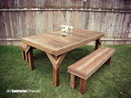full size of wooden outdoor dining table plans round patio outside wood picnic how to build