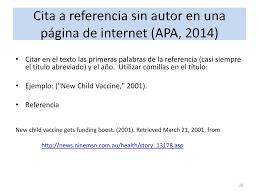 Citas Estilo Apa De Paginas De Internet Como Citar Paginas De Internet