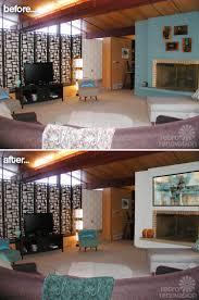 mid century living room befor eafter designdilemma