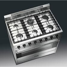 Smeg Classic 36 Inch 6 Burner Natural Gas Range Stainless Steel