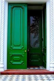 green front doorsAbby Manchesky Interiors green front door The Cottage Project