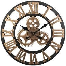 retro wall clocks vintage clock retro vintage handmade decorative gear wooden vintage wall clock copper retro