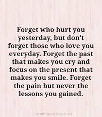Forget Love Quotes Simple Forget Who Hurt You Yesterday But Don't Forget Those Who Love You
