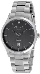 men s kenneth cole stainless steel diamond watch 10018750