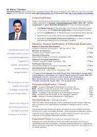 Curriculum Vitae Sample For Teachers 6 Handtohand Investment Ltd