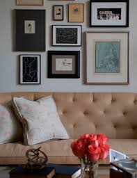 art gallery over sofa transitional