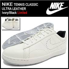 nike nike sneakers mens men s tennis classic ultra leather ivory black limited edition nike tennis