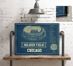 Chicago Bears Stadium Seating Chart Soldier Field Vintage