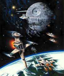 Space Bedroom Wallpaper Star Wars Death Star And Endor Wall Mural Photo Wallpaper