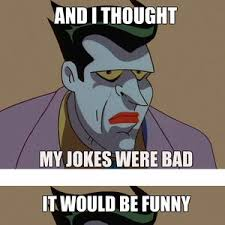 New Meme: Not Amused Joker by captainmcduck - Meme Center via Relatably.com