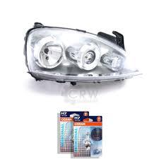 Halogen Headlight Right Opel Corsa C Built 0703 H7h7 With Indicator 1349403 56278606 Ebay