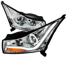 2011-2014 Chevy Cruze Angel Eye Halo & LED DRL Strip Projector ...