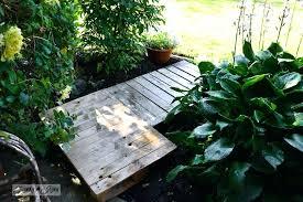 wooden walkways for garden the building of a 2 pallet garden walkway via funky junk interiors wooden walkways for garden