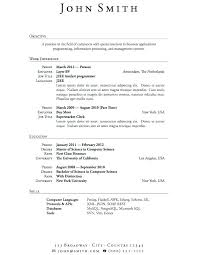 Resume Outline Templates Format For Good Resume Good Resumes ...