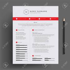 Professional Design Resume Stylish Cv Resume Design Template Red Super Clean And Clear