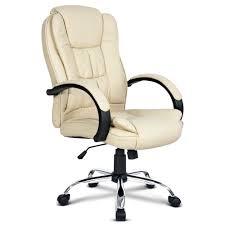 beige desk chair. Delighful Beige Plush PU Leather Office Chair U2013 Beige With Desk