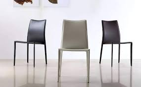 brown dining chairs. Modern Dining Chairs Leather Contemporary Chair In Black Brown Or White