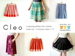 Skirt Pattern Mesmerizing Cleo Skirt Sewing Pattern Made By Rae