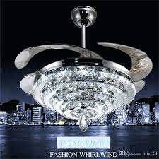 fan with crystal light whole ceiling fans at get led crystal chandelier fan lights invisible fan