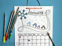 Insert your coloring calendar into your existing 2020 planner for a decorative start to each month. Free Cute Printable Calendar 2021 Red Ted Art