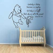 Beautiful Creative DIY Winnie The Pooh Piglet Home Decoration Baby Quote Wall Decal  Nursery Stickers