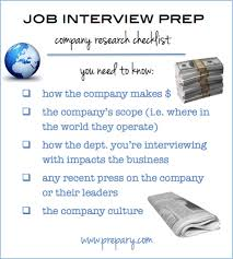 job interview checklist company research the the prepary job interview prep company research checklist