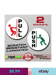 pull push stickers for glass door 9cm