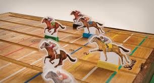 Wooden Horse Racing Dice Game wooden horse race game hazardpublishing 59
