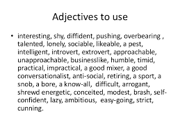 descriptive essay adjectives