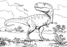 Small Picture T Rex Dinosaur Coloring Page Coloring Book