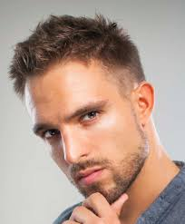short razored hairstyle for men with thin hair