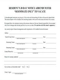 30 day notice to roommate template template end of tenancy notice template roommate eviction 30 day