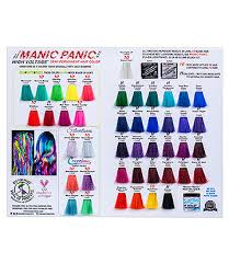 Directions Hair Color Chart Manic Panic Hair Dyes Uk